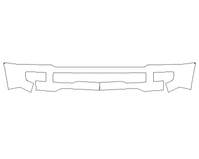 2020 FORD F-350 SUPER DUTY LARIAT Bumper