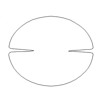 4 Door Handle Cups (oval shape)