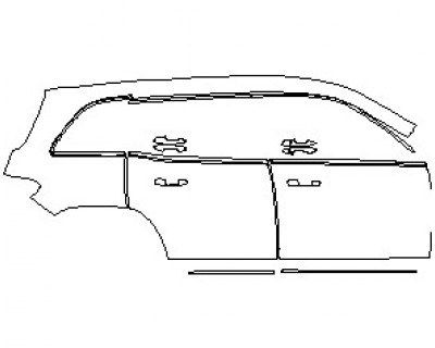 2021 MERCEDES GLB BASE REAR QUARTER AND DOORS WITH TRIM RIGHT