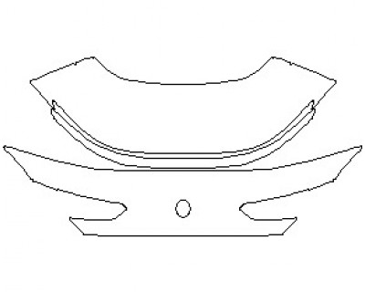 2021 BMW 8 SERIES 840I M SPORT COUPE REAR DECK LID WITH SPOILER