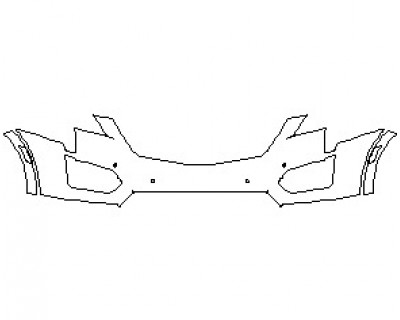 2021 CADILLAC XT5 BASE BUMPER KIT WITH SENSORS