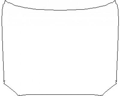 2021 TOYOTA TACOMA SR5 DOUBLE CAB FULL HOOD KIT (WRAPPED EDGES)