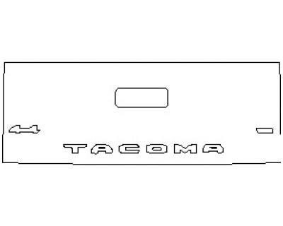 2021 TOYOTA TACOMA SR5 DOUBLE CAB TAILGATE WITH 4X4 AND V6 EMBLEM