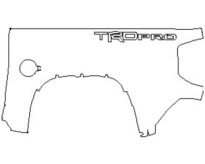 2021 TOYOTA TUNDRA TRD PRO BED SIDE FOR SHORT BED LEFT SIDE WITH TRD PRO IMPRINT