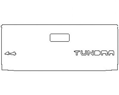 2021 TOYOTA TUNDRA TRD PRO TAIL GATE WITH 4X4 EMBLEM