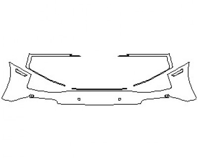 2021 AUDI R8 V10 SPYDER REAR BUMPER KIT WITH SENSORS