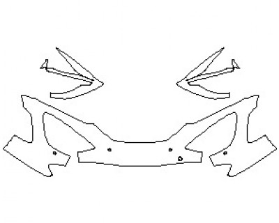2021 MCLAREN 720S BASE COUPE BUMPER KIT WITH SENSORS