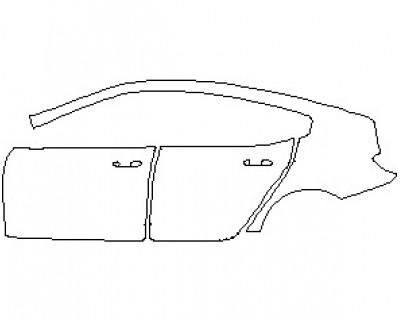 2021 BMW 8 SERIES M850I GRAN COUPE REAR QUARTER PANEL & DOORS LEFT SIDE