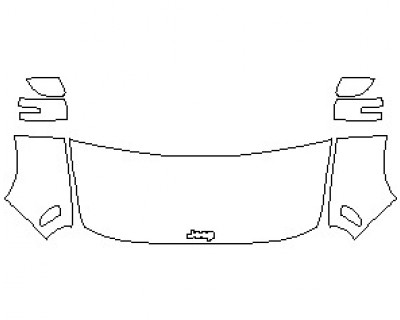 2021 JEEP RENEGADE TRAILHAWK HOOD KIT (WRAPPED EDGES)