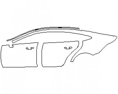2021 MERCEDES AMG GT 53 4 DOOR COUPE REAR QUARTER PANEL & DOORS LEFT SIDE