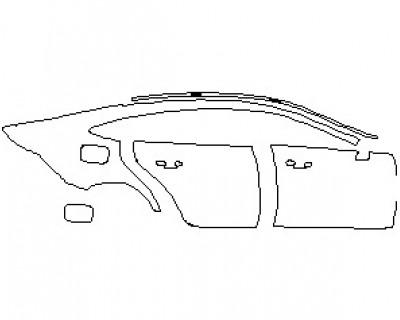 2021 MERCEDES AMG GT 53 4 DOOR COUPE REAR QUARTER PANEL & DOORS RIGHT SIDE