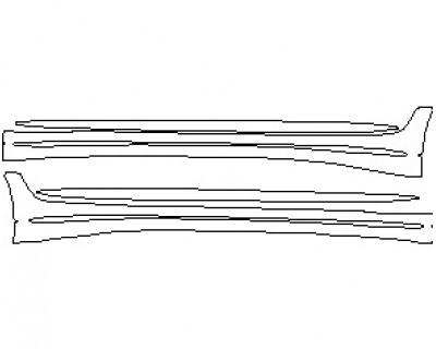 2021 MERCEDES AMG GT 53 4 DOOR COUPE ROCKER PANELS