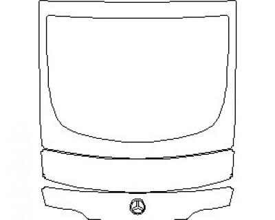 2021 MERCEDES AMG GT 53 4 DOOR COUPE REAR DECK LID