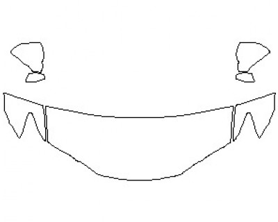 2021 LEXUS GS-F HOOD KIT (WRAPPED EDGES)