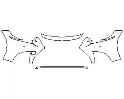 2021 LEXUS LS F-SPORT BUMPER KIT WITH SENSORS
