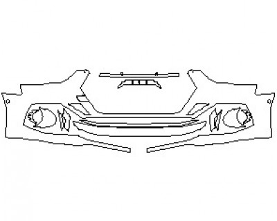2022 AUDI RS5 COUPE BUMPER KIT WITH SENSORS