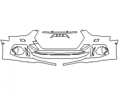 2022 AUDI RS5 COUPE BUMPER KIT WITH WASHERS & SENSORS