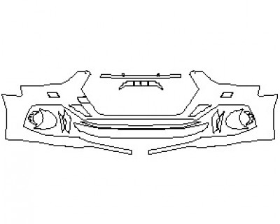 2022 AUDI RS5 COUPE BUMPER KIT WITH WASHERS