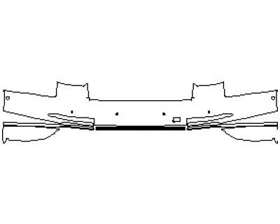 2020 AUDI S8 L  REAR BUMPER WITH SENSORS