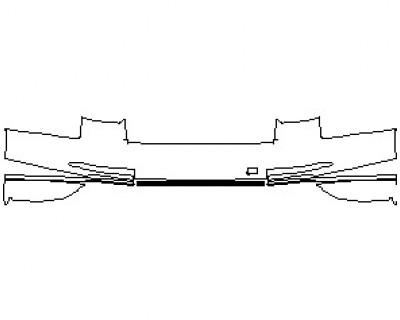 2020 AUDI S8 L  REAR BUMPER