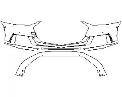 2020 AUDI S8 L  BUMPER WITH SENSORS