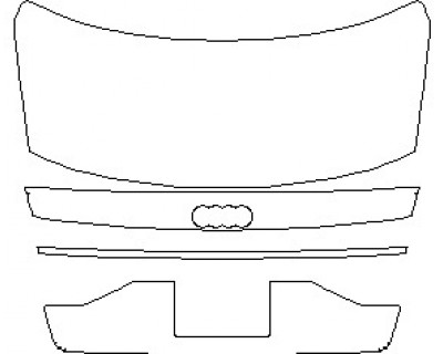 2021 AUDI A8 L WITH SPORT EXTERIOR STYLING REAR DECK LID WITH LICENSE PLATE