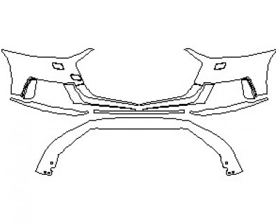 2021 AUDI A8 L WITH SPORT EXTERIOR STYLING BUMPER KIT WITH WASHERS