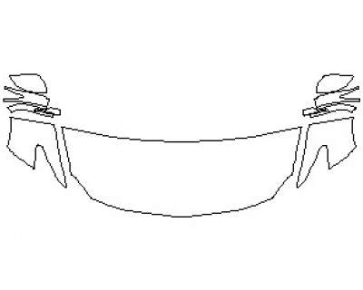 2021 NISSAN MAXIMA PLATINUM HOOD KIT (WRAPPED EDGES)