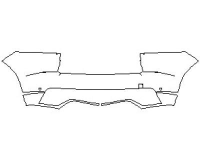 2021 JAGUAR E-PACE R-DYNAMIC HSE REAR BUMPER KIT WITH SENSORS