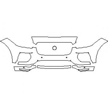2021 JAGUAR E-PACE R-DYNAMIC S BUMPER KIT WITH SENSORS
