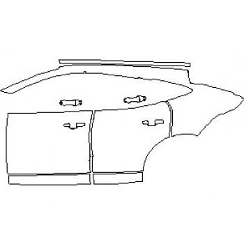 2021 JAGUAR E-PACE R-DYNAMIC S REAR QUARTER PANEL & DOORS LEFT SIDE
