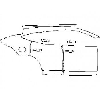 2021 JAGUAR E-PACE R-DYNAMIC S REAR QUARTER PANEL & DOORS RIGHT SIDE