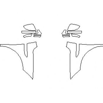 2021 JAGUAR E-PACE R-DYNAMIC S FULL FENDER (WRAPPED EDGES)