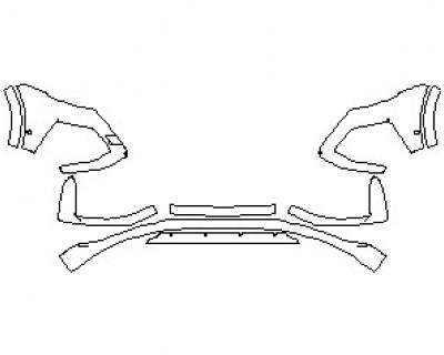 2021 AUDI RSQ8 BUMPER KIT WITH SENSORS