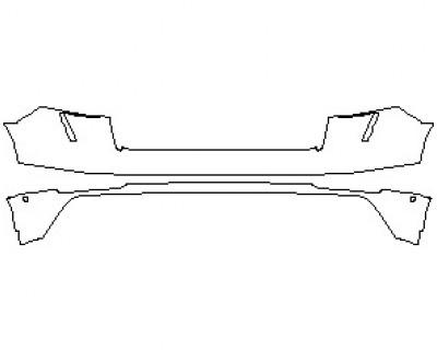 2021 AUDI RSQ8 REAR BUMPER KIT WITH SENSORS