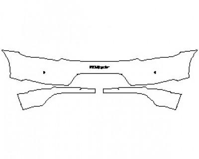 2022 PORSCHE 718 SPYDER REAR BUMPER KIT WITH 718 SPYDER EMBLEM & SENSORS