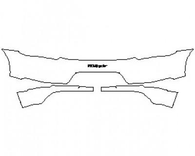 2022 PORSCHE 718 SPYDER REAR BUMPER KIT WITH 718 SPYDER EMBLEM