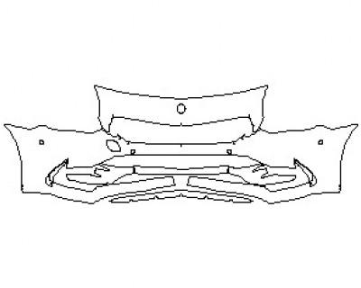 2020 MERCEDES SLC ROADSTER AMG SLC43 BUMPER WITH SENSORS