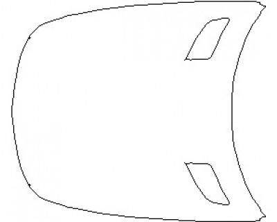 2021 MERCEDES AMG GT ROADSTER FULL HOOD KIT (WRAPPED EDGES)