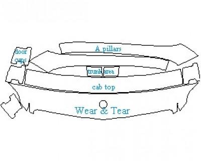 2020 MERCEDES GLK CLASS 250 BLUETEC WEAR AND TEAR AREAS
