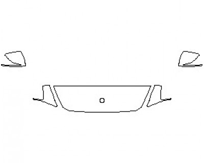 2020 MERCEDES G CLASS 550 HOOD WRAPPED EDGES 18 INCH
