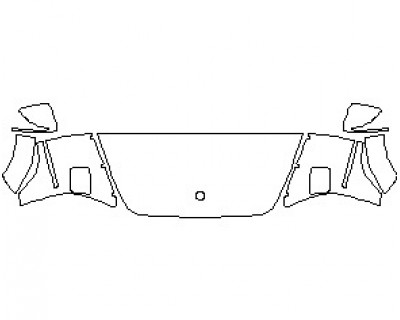 2020 MERCEDES G CLASS 550 HOOD WRAPPED EDGES 24 INCH