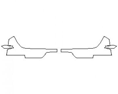 2022 FERRARI 812 GTS BUMPER KIT MATTE LOWER