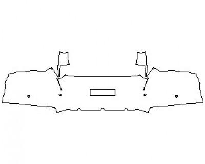 2022 FERRARI 812 GTS REAR BUMPER KIT WITH SENSORS