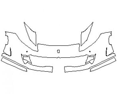 2022 FERRARI 812 GTS BUMPER KIT WITH SENSORS