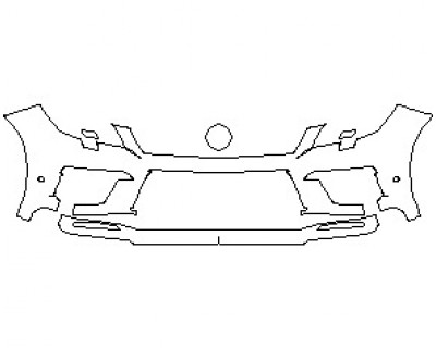 2021 MERCEDES ML CLASS 63 AMG BUMPER KIT WITH WASHERS AND SENSORS