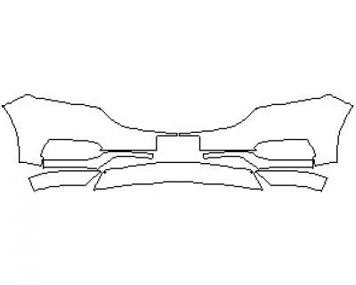2021 BUICK ENCLAVE PREMIUM BUMPER KIT WITH LICENSE PLATE BRACKET