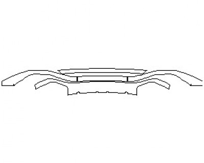 2021 AUDI RS7 REAR DIFFUER & LOWER BUMPER KIT