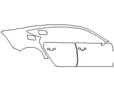 2021 AUDI RS7 REAR QUARTER PANEL & DOORS RIGHT
