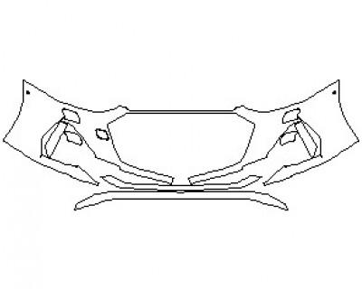 2022 AUDI RS7 BUMPER KIT WITH WASHERS & SENSORS